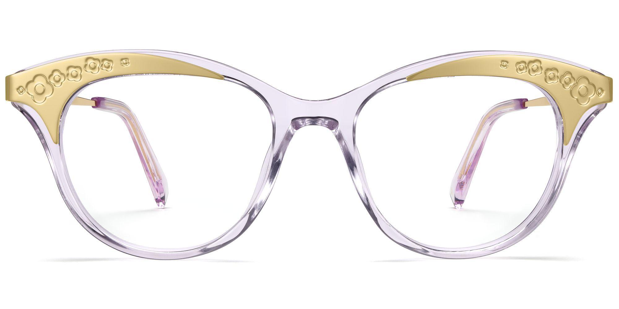18f2b38d8fdf Christabel Eyeglasses in Lavender Crystal for Women. With gilded sweeps of  floral filigree