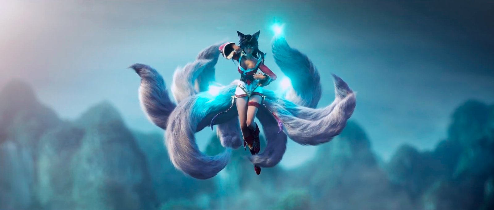 Ahri Fox Fire Lol Wallpaper By 77silentcrow Deviantart Com On