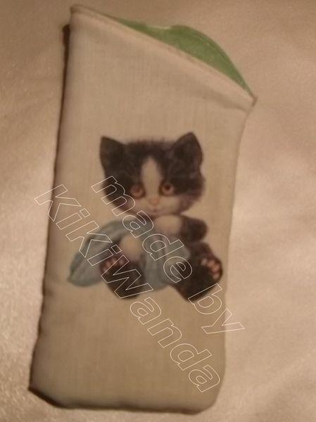 Brille-Schlafsack Katze von KiKiWanda UnikateausderLueneburgerHeide auf DaWanda.com