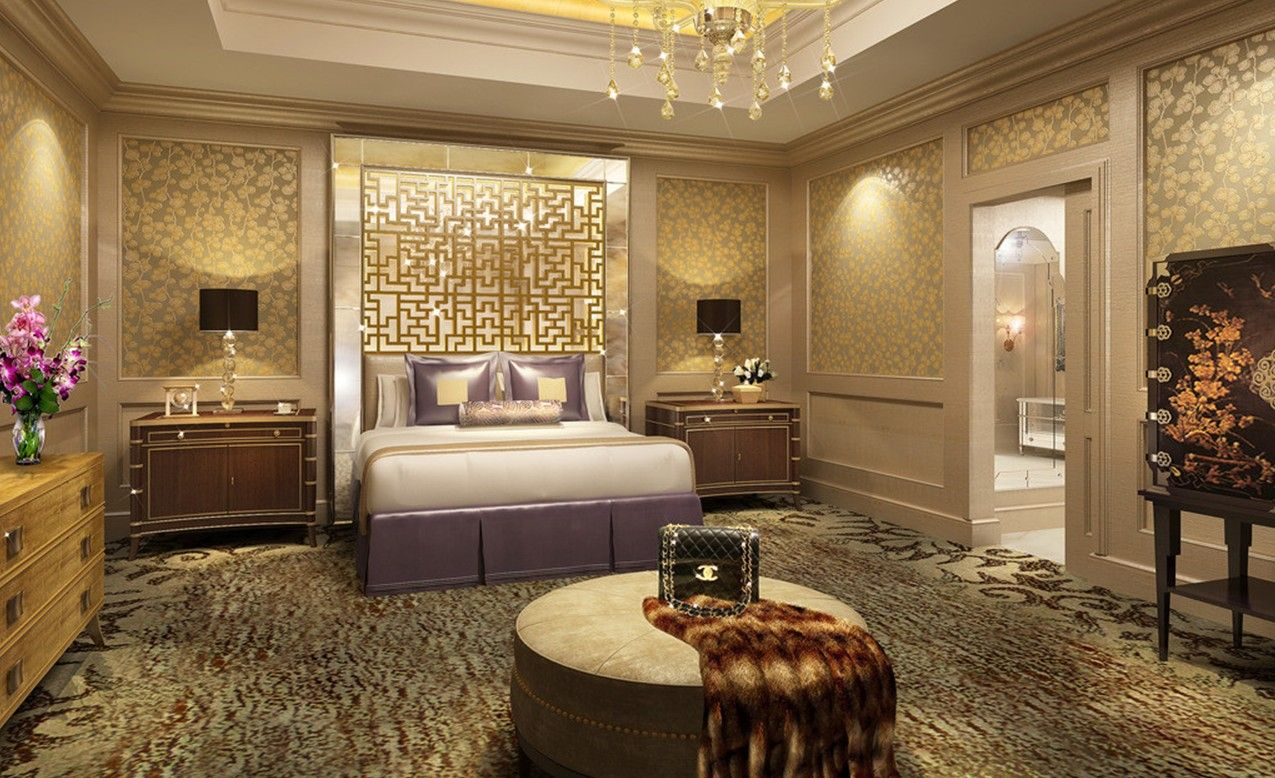 Movie stars interior design images of 3d design of five for Hotel bedroom designs