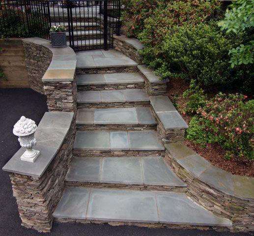 Best Stacked Stone Steps Cottage Garden Design Merrifield 400 x 300