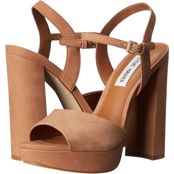 497d3bc0ea30 Steve Madden Kierra (Camel Nubuck) High Heels (235 MYR) ❤ liked on Polyvore  featuring shoes