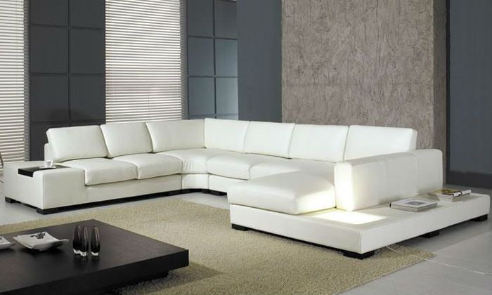 2013 Euro Design Modern Sofa Large Size L Shaped Corner Leather Sofa  Classic White Leather Sofa