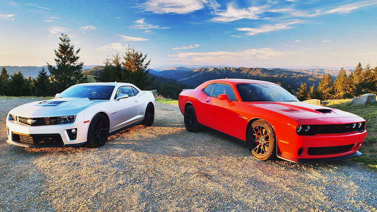 2015 Dodge Challenger SRT HEMI Hellcat vs 2015 Chevrolet Camaro ZL1