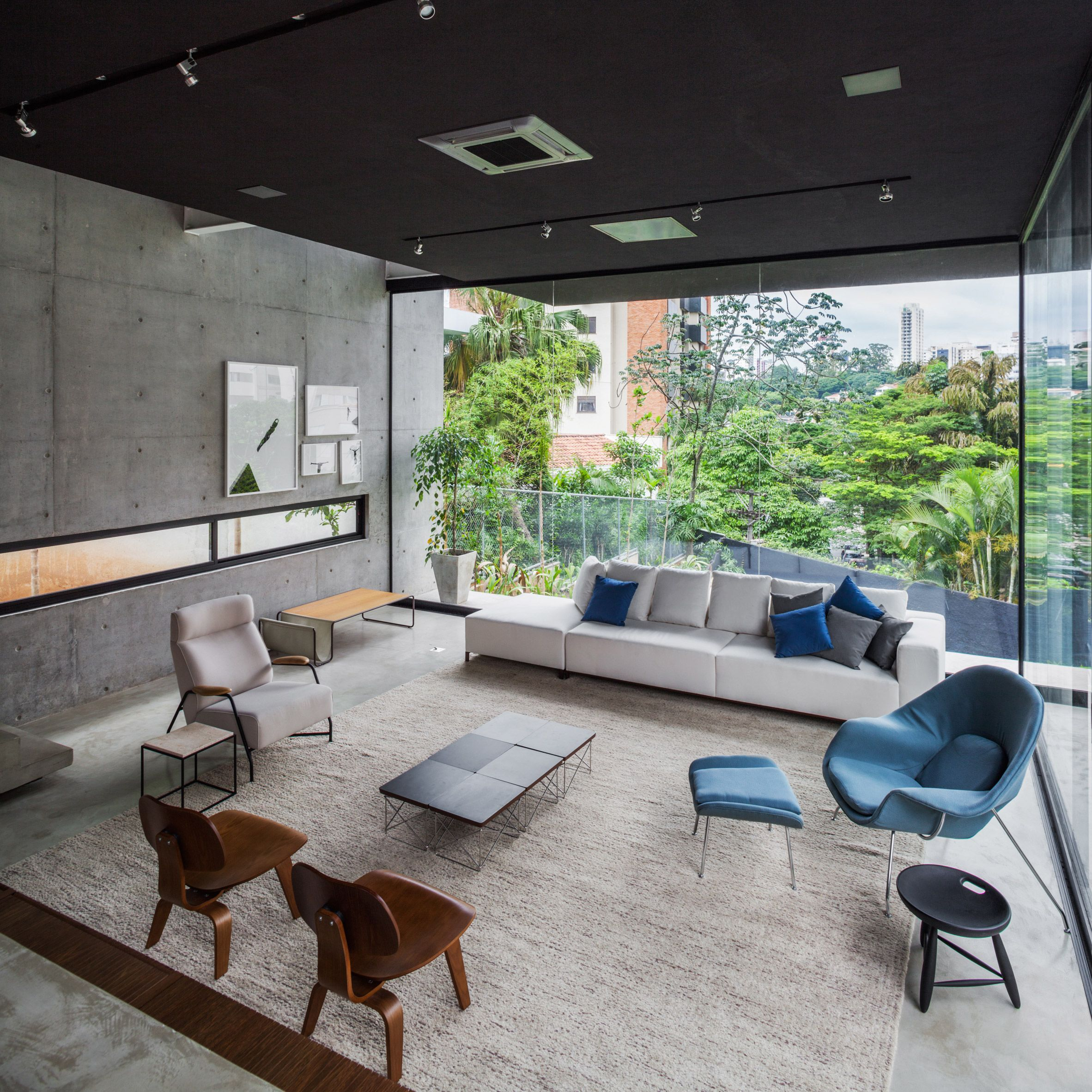 Concrete Volume Appears To Rest On Glass In Brazilian