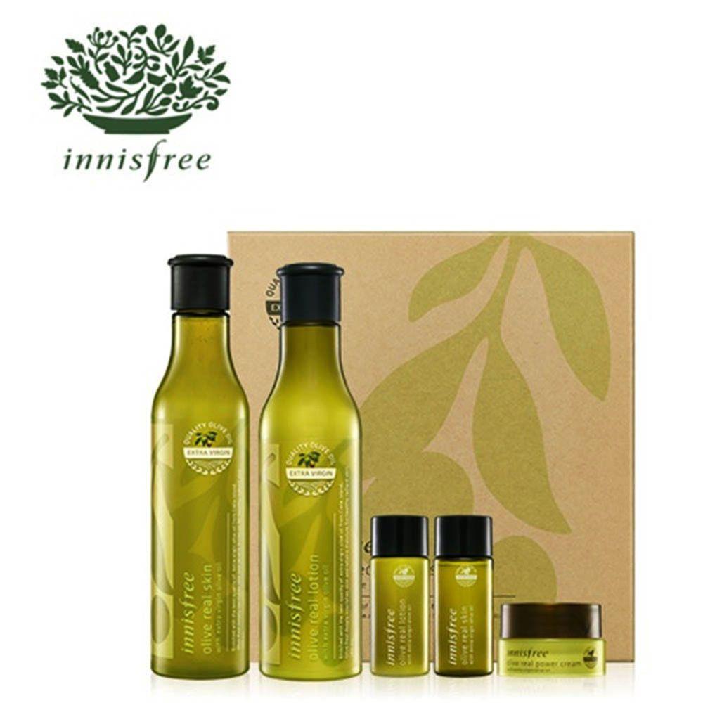 Innisfree Olive Real Special Care Set Innisfree 333korea Skincare Beauty Koreacosmetics Cosmetics Oppacosmetics In 2020 Innisfree Lotion Extra Virgin Olive Oil