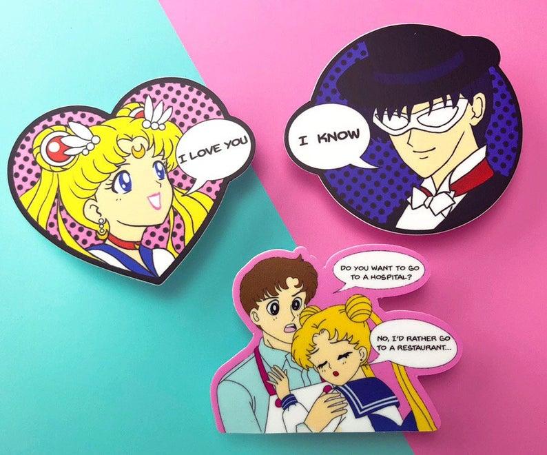 Sailor Moon Pop Art Sticker Pack Etsy In 2020 Sticker Art Sailor Moon Pop Art