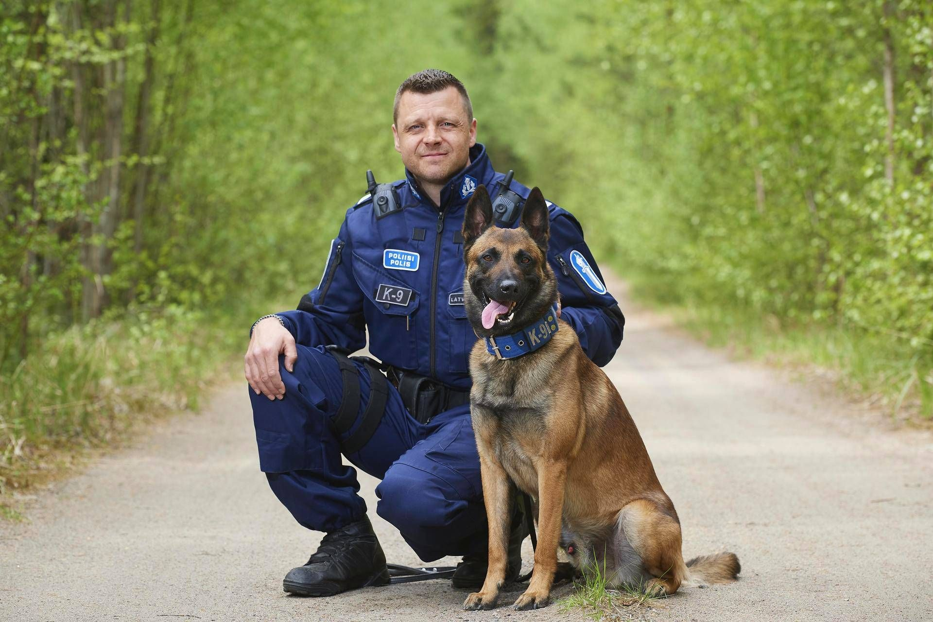 This Is Oiva He Goodest Polise Doggo In Finland And Some Human