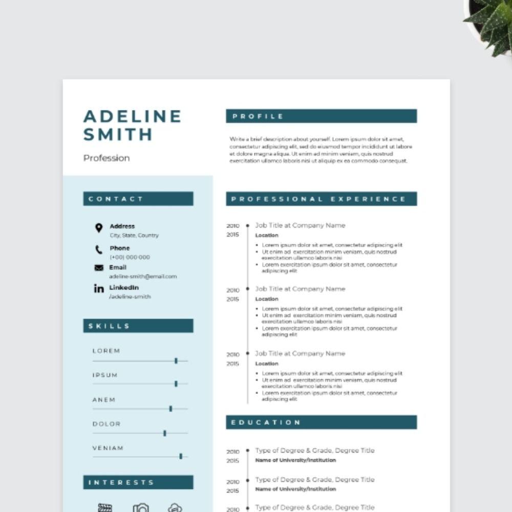 Bold CV Template Cv template, Creative cv template