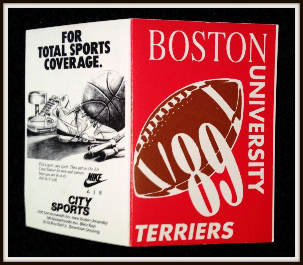 1989 BOSTON UNIVERSITY TERRIERS CITY SPORTS NIKE FOOTBALL