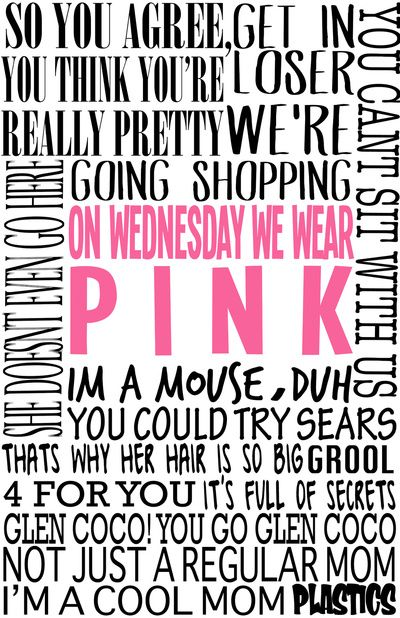 Mean Girls Quotes Art Print Mean girl quotes, Mean girls