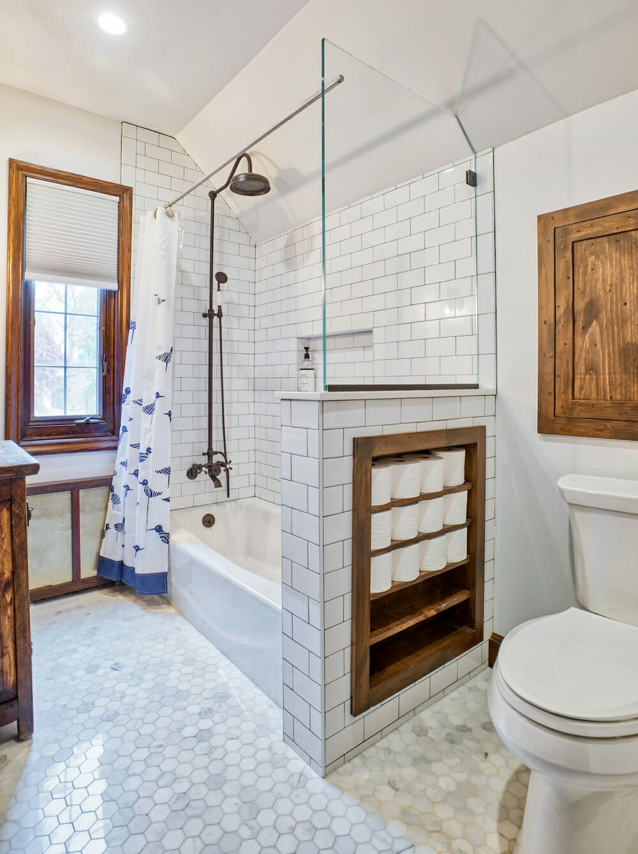 Renovating A 1930s Tudor Home In Westchester New York Restroom Remodel Bathroom Design Wood Small Bathroom