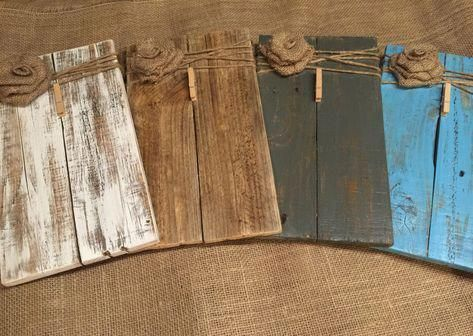 Rustic Wooden Picture Frame / Note Holder / Wooden Frame / rustic decor / farmhouse decor / pallet wood frame / clip board/ FREE SHIPPING -   18 diy projects For The Home picture frames ideas