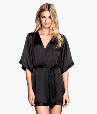 88cb5c76f2 Satin Kimono, $24.95, H & M | Lingerie and Tights in 2019 | Satin ...