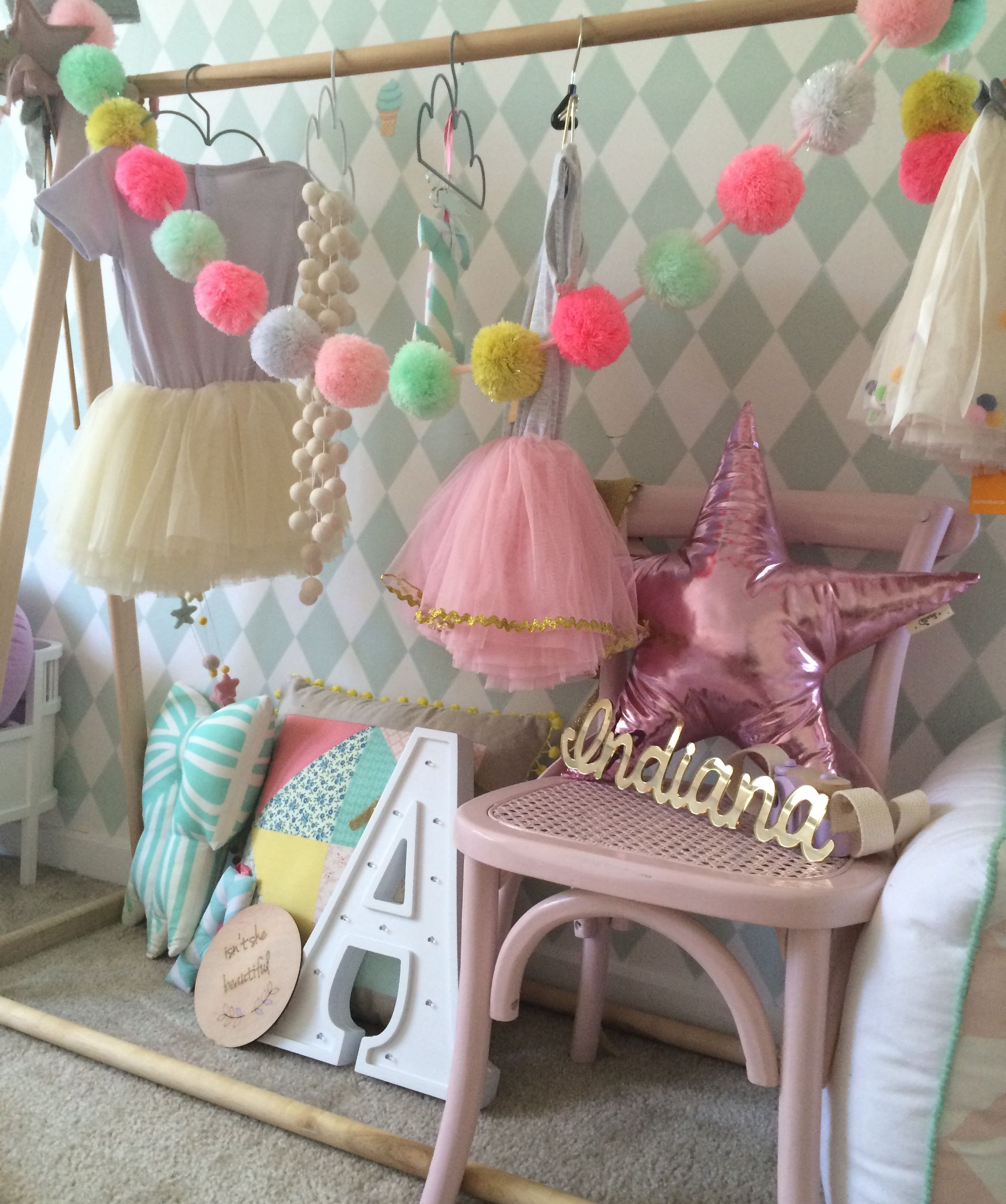 Pretty girls room. Cushion love