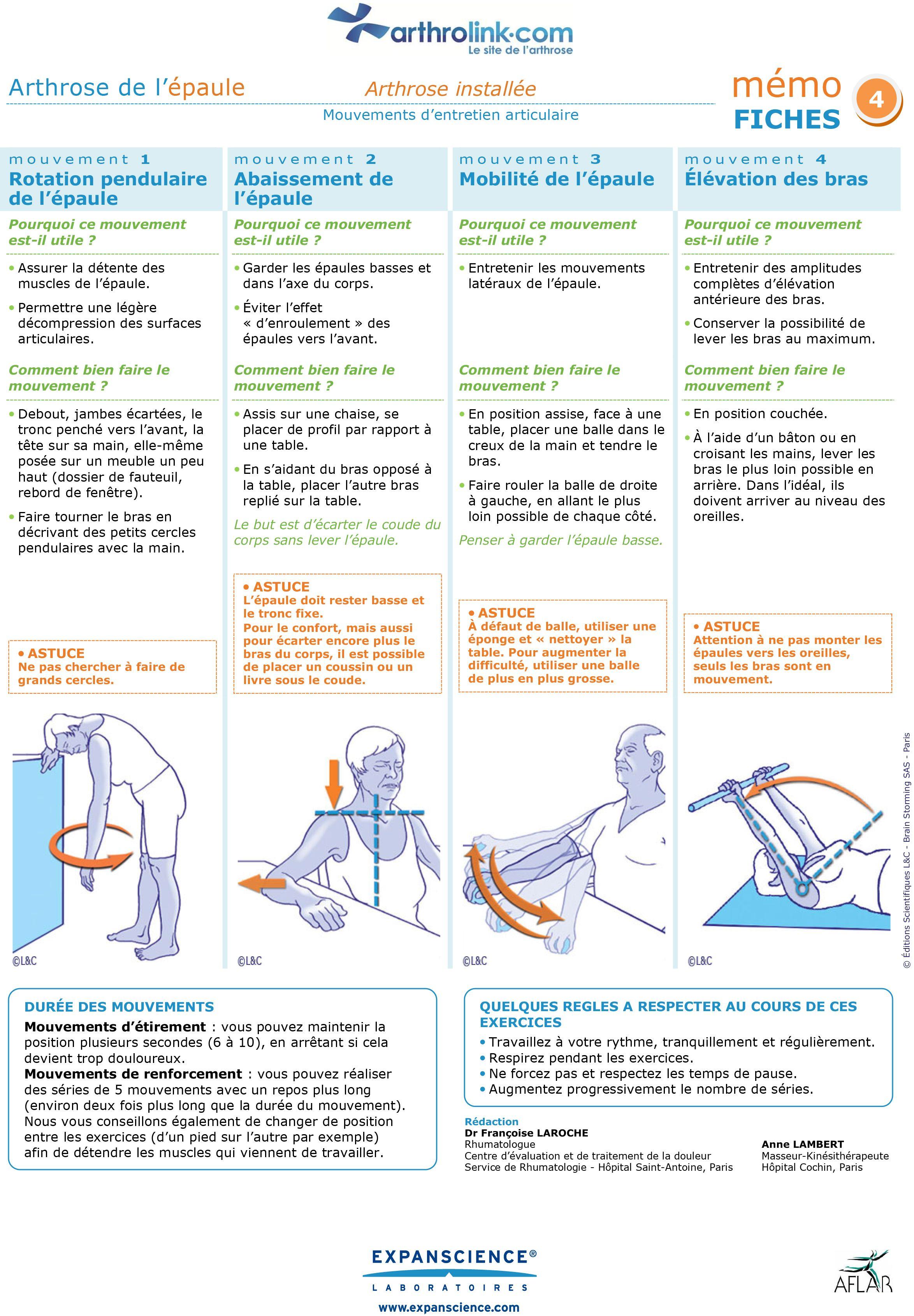 Exercices pour soulager l'arthrose installée de l'épaule