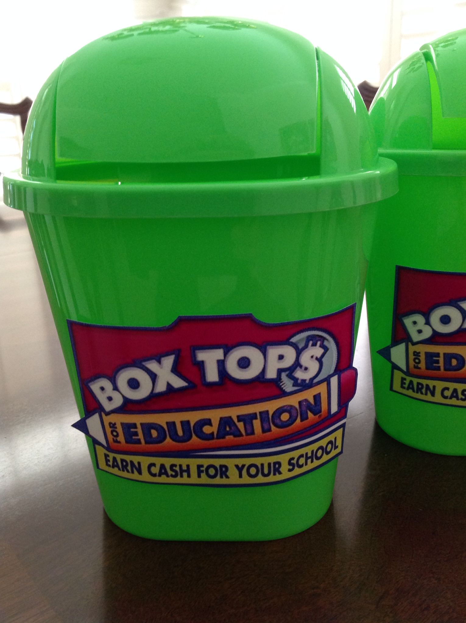Dollar Tree Mini Trashcan For Box Tops Collection In The Classroom