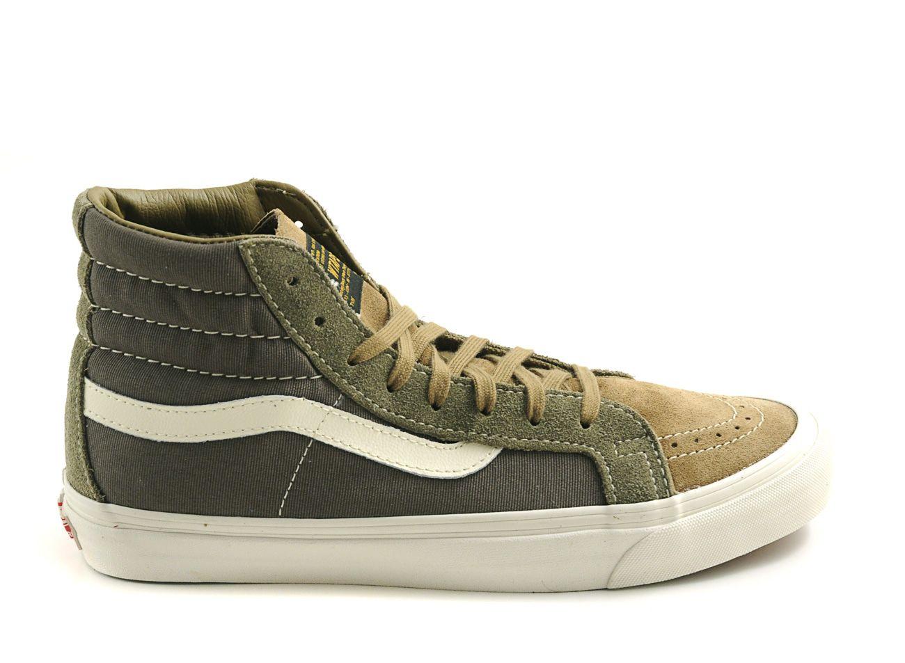 f94c0e97752a82 Vans - Green Og Classic Sk8 Hi Lx Wtaps Olive Drab Brown