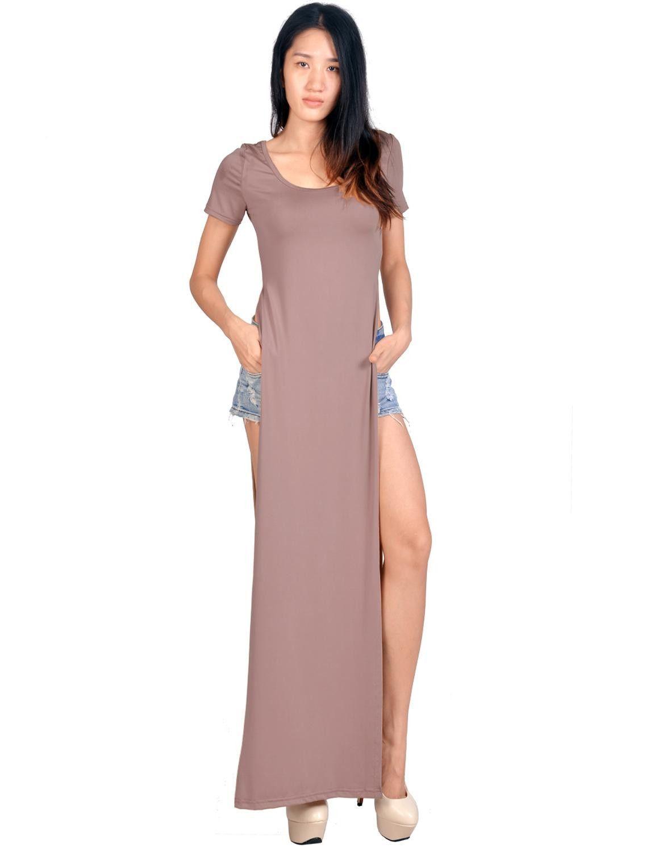 Robe Bandage Longue Womens Celeb maxi casual shirt dress Ladies sexy ...