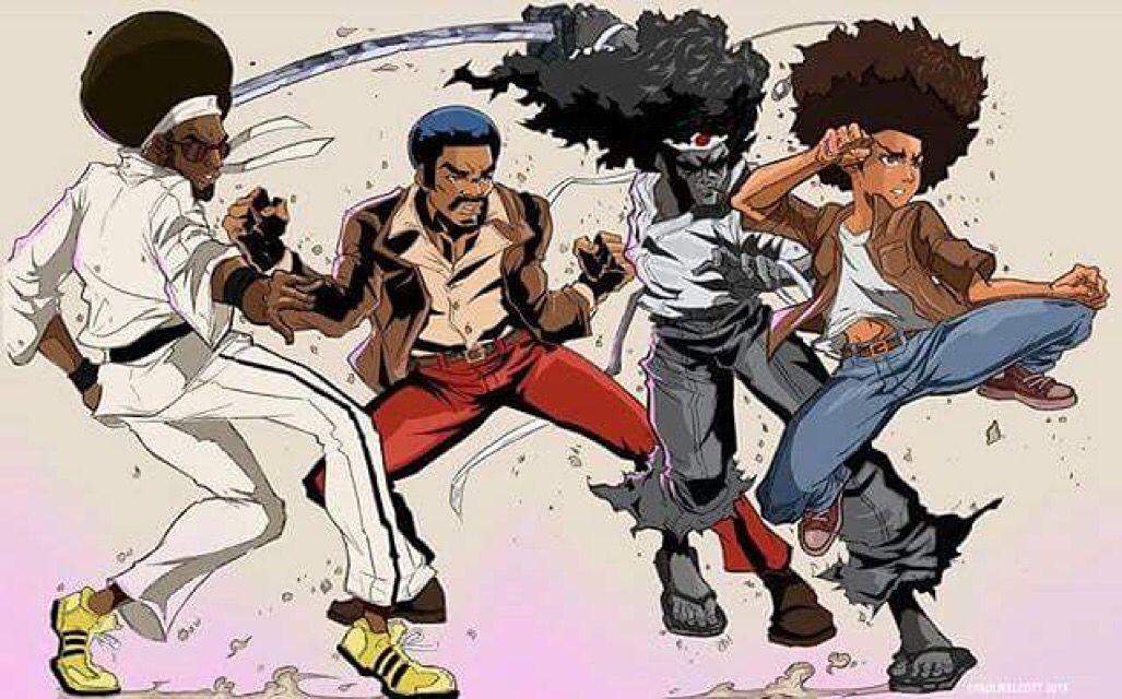 Grand Master Bushido Brown Black Dynomite Afro Samari And Huey