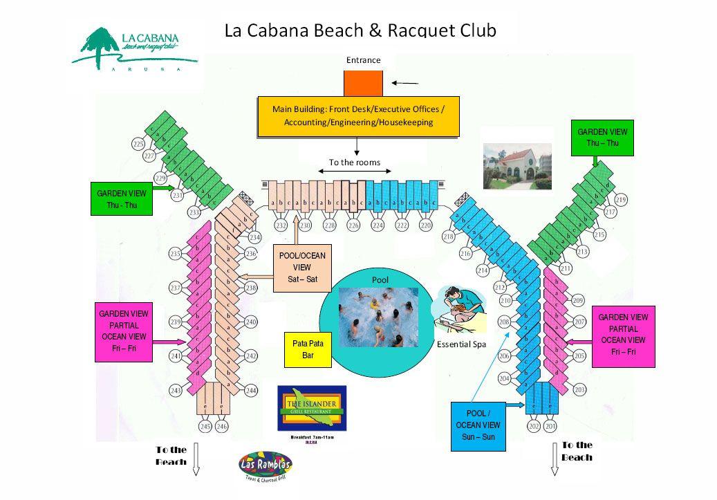 La Cabana Beach And Racquet Club Resort Layout