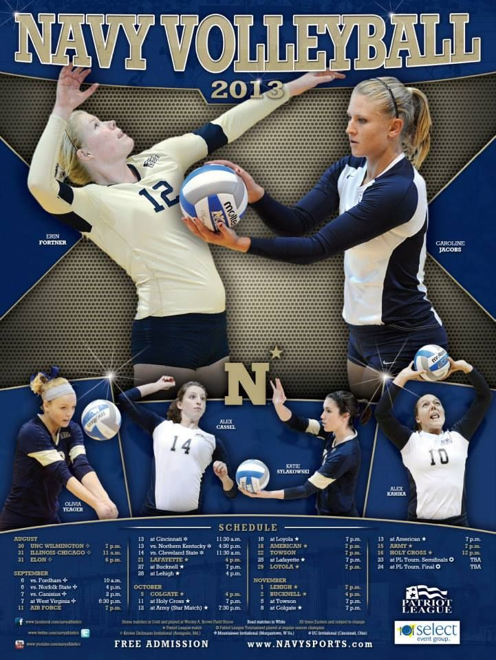 Here Is The 2013 Navy Volleyball Poster What Do You Think The Team Will Kick Off The 2013 Season When They Host The Kris Volleyball Posters Volleyball Lehigh