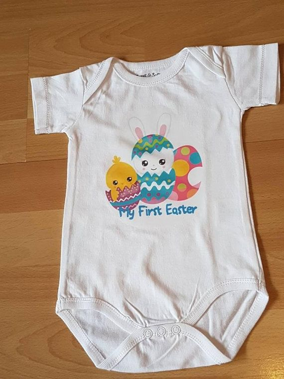 Check out this item in my etsy shop httpsetsyuklisting my first easter baby easter top baby easter romper first easter tshirt easter bodysuit easter baby vest baby easter bunny easter gift negle Gallery