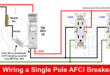 How To Wire An Afci Breaker Arc Fault Circuit Interrupter Wiring Electronic Engineering Types Of Electrical Wiring Electrical Installation