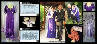 This client wanted her wedding dress in a straight cut purple design and butterfly detail and a white lace border and lace flair on the sides. She also had lace matching gloves, veil & ring cushion with a purple butterfly theme. Designed and made by Marisela Veludo. From R1200. To view wedding accessories: http://www.passion4fashion.co.za/wedding-accessories.html - See more at: http://www.passion4fashion.co.za/wedding-dresses.html#sthash.HMksDLCw.dpuf