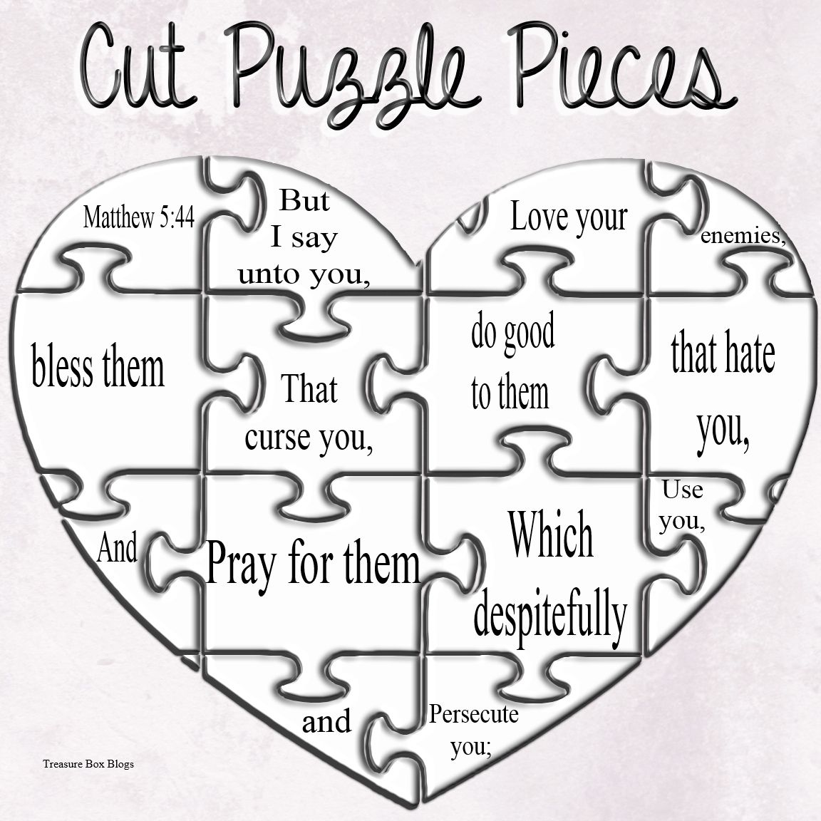 Matthew 5 44 Make Your Own Puzzle Craft Kids Crafts Puzzle