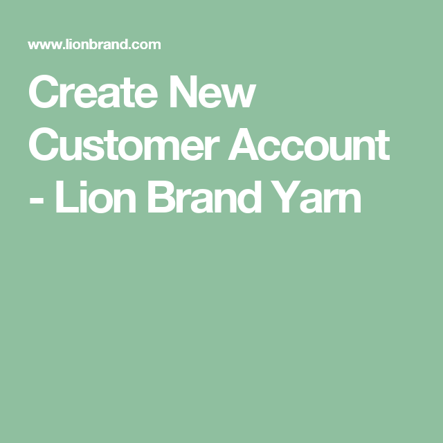 Create New Customer Account Lion Brand Yarn Blankets Pinterest
