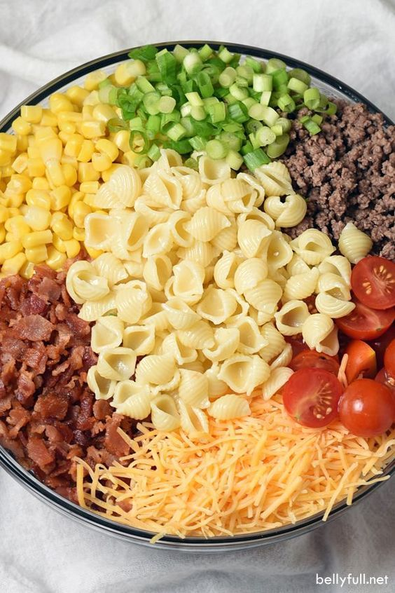 Photo of Cowboy Pasta Salad Recipe – Belly Full