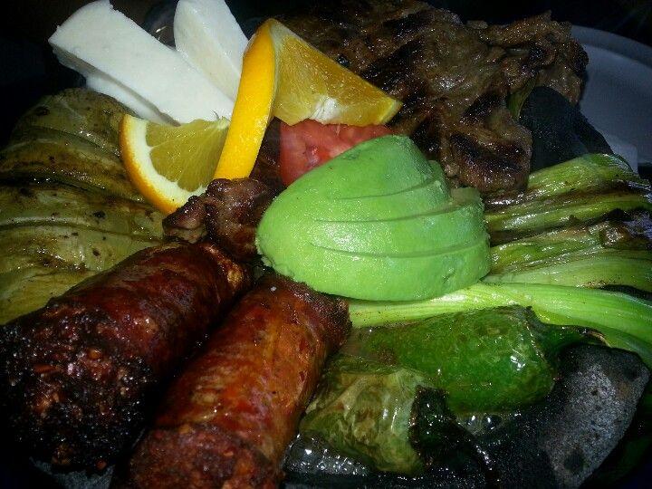 Carne asada y mocajete spelled wrong oops mexican