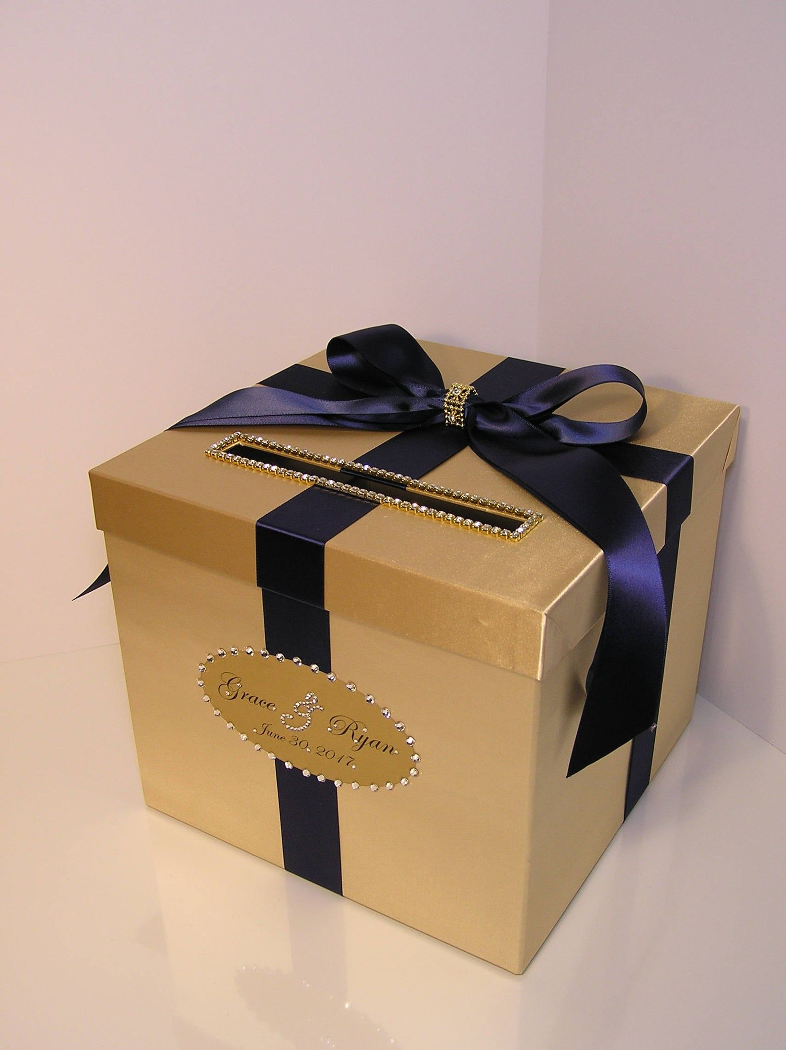 Wedding/Quinceañera/Sweet 16 Card Box Gold and Burgundy