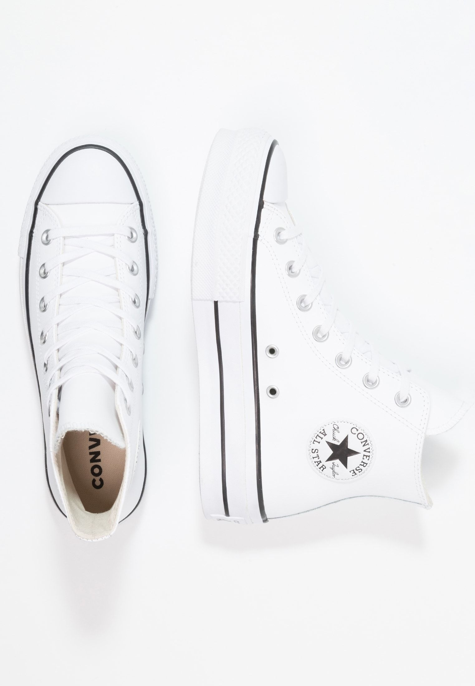 CHUCK TAYLOR ALL STAR LIFT CLEAN - Sneaker high - white ...