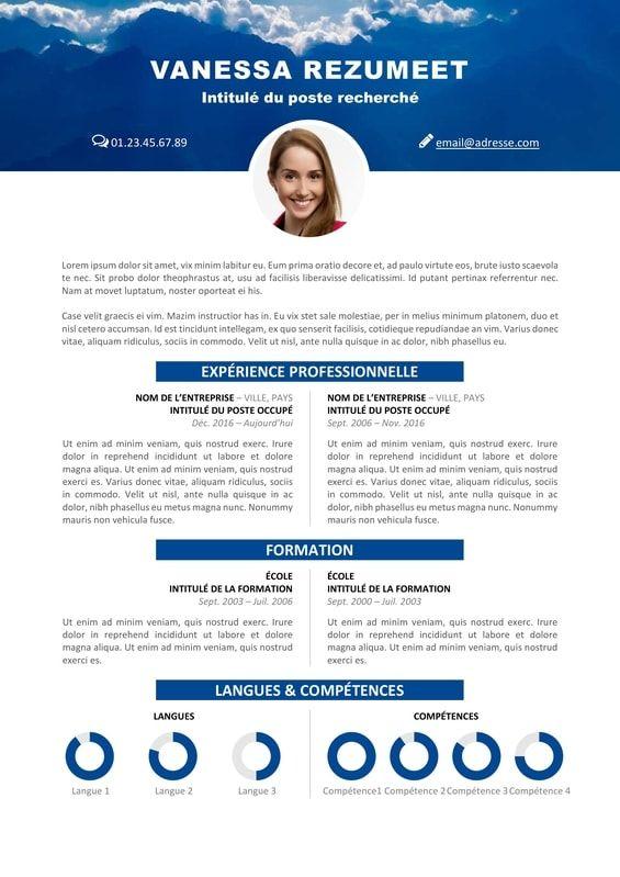 Vesterbro Modele Gratuit De Cv Nature Montagnes Resume Template Resume Design Template Resume