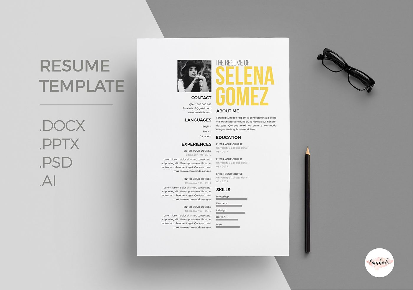Professional CV and Cover Letter template on Behance | Cv | Pinterest