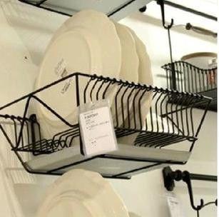 Wall Storage Fintorp Dish Drainer Black Galvanised Dish Drainer
