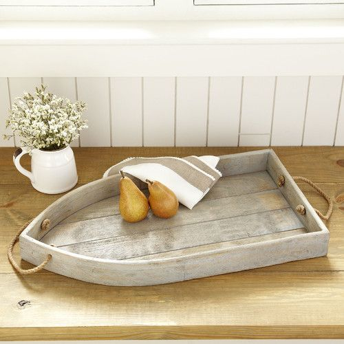 Wooden Tray Decor Stunning Galley Wooden Tray #birchlane  Beach Decorating  Pinterest Review