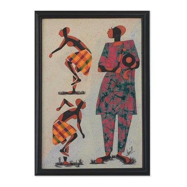 Novica african batik framed art ils liked on polyvore featuring home decor wall also yellow hat print rh pinterest