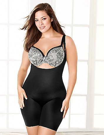 a178251e40a SPANX® Slimplicity Open-Bust Body Suit. Slimplicity Open-Bust Mid-Thigh Body  Suit provides super control to shape and smooth your silhouette from bust  to ...