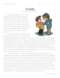 Second Grade Reading Comprehension Worksheet - The Bully | Teach Me ...