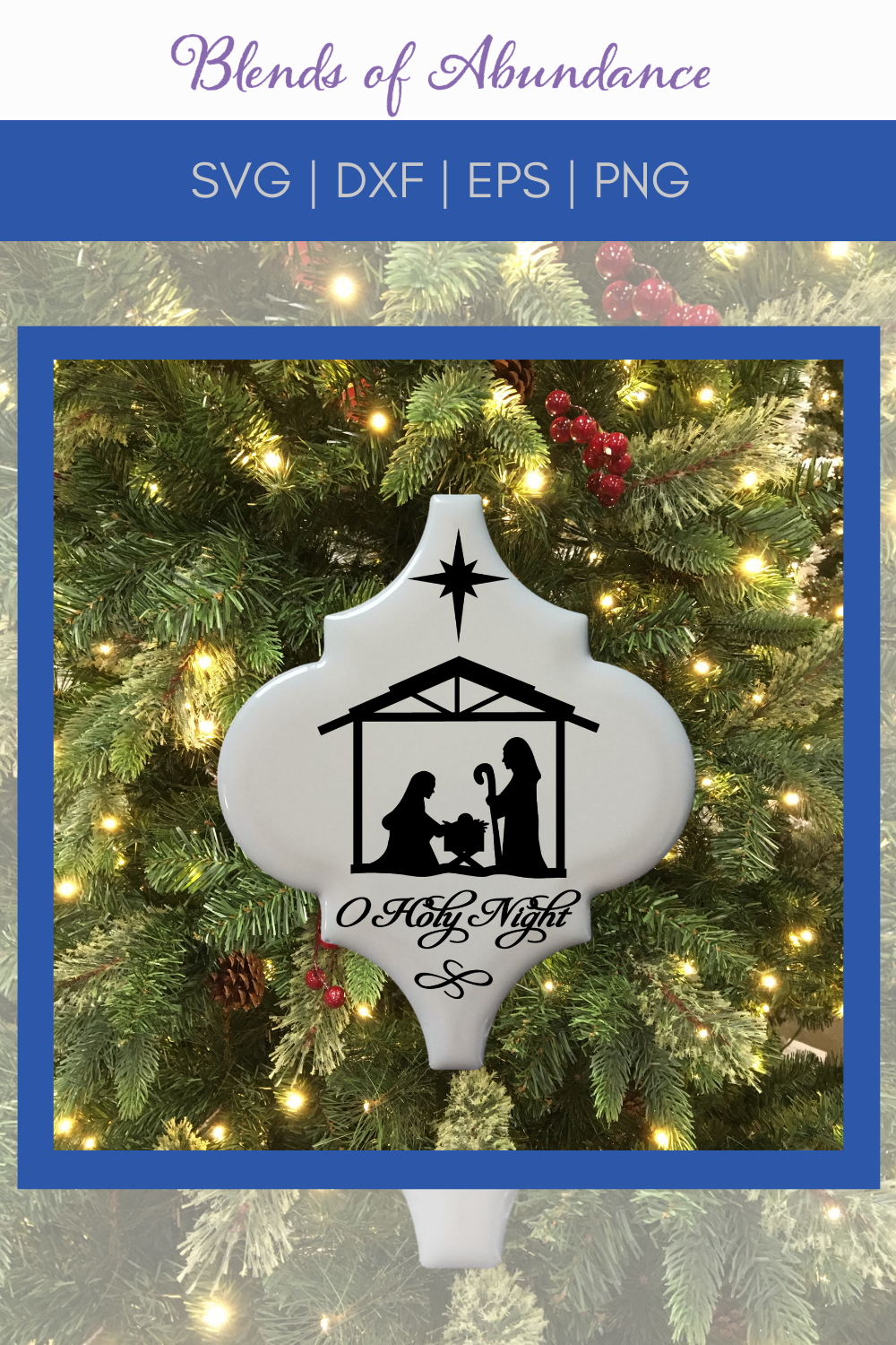 Nativity Arabesque Tile Ornament Svg Tile Ornament Template Lantern Tile Christmas O Holy N Cricut Ornaments How To Make Ornaments Diy Christmas Ornaments