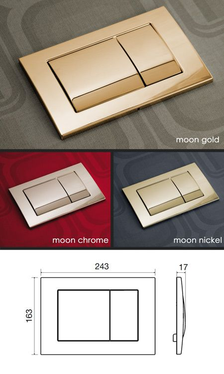 Moon Cistern Flush Plate 54h Flush Buttons Plates In