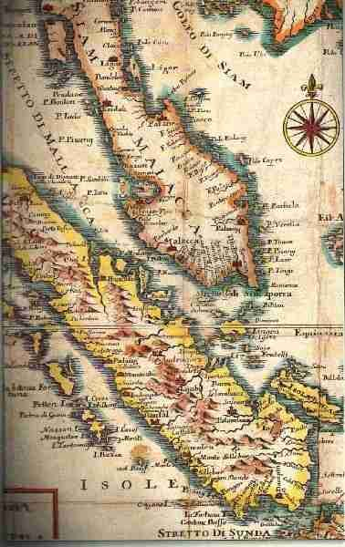 Old Paintings and Maps of Malacca History Map Asia