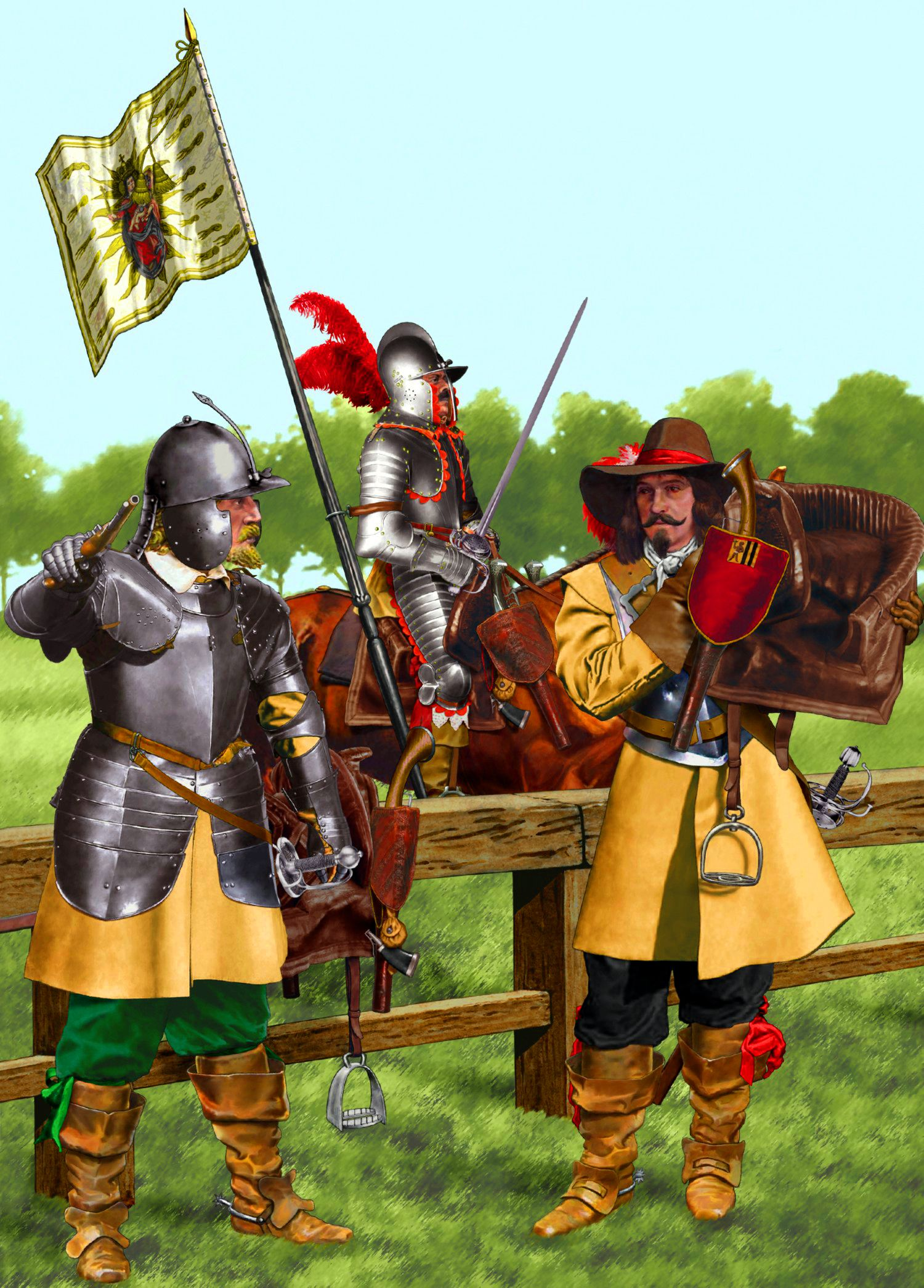 Imperial Cuirassiers Thirty Years War With Images