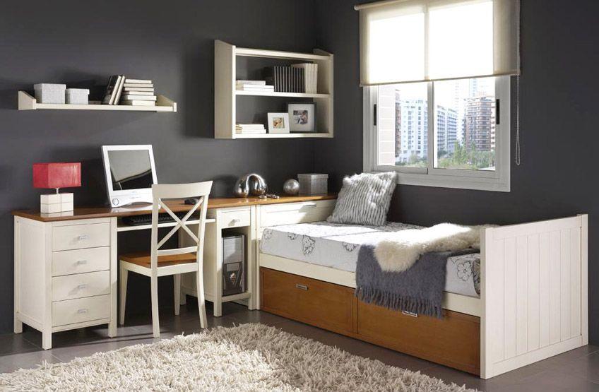 Dormitorio juvenil con cama nido 76 dormitorio varones - Decoracion dormitorios juveniles pintura ...