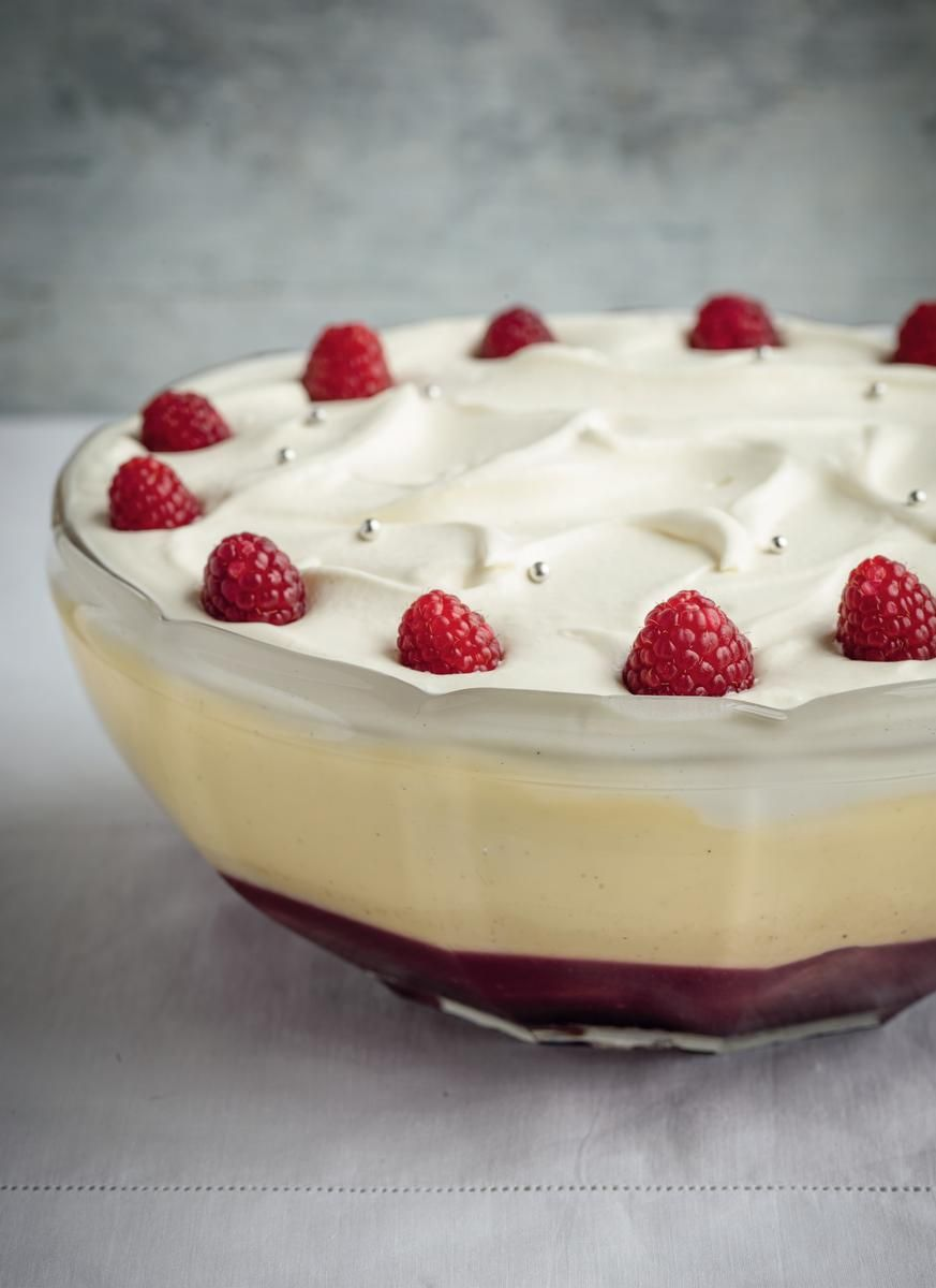 Raspberry Jelly Trifle - The Happy Foodie