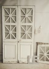 天窓付きフレンチペアドア アンティーク パディントン ドア
