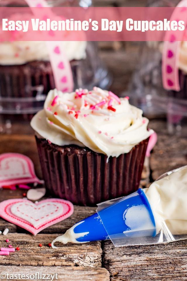 Easy Valentine S Day Cupcakes With Frosting Swirls And